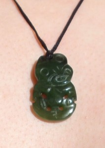 Hei-Tiki Greenstone carving from New Zealand